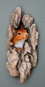 'Hope'- Red squirrel wall plaque