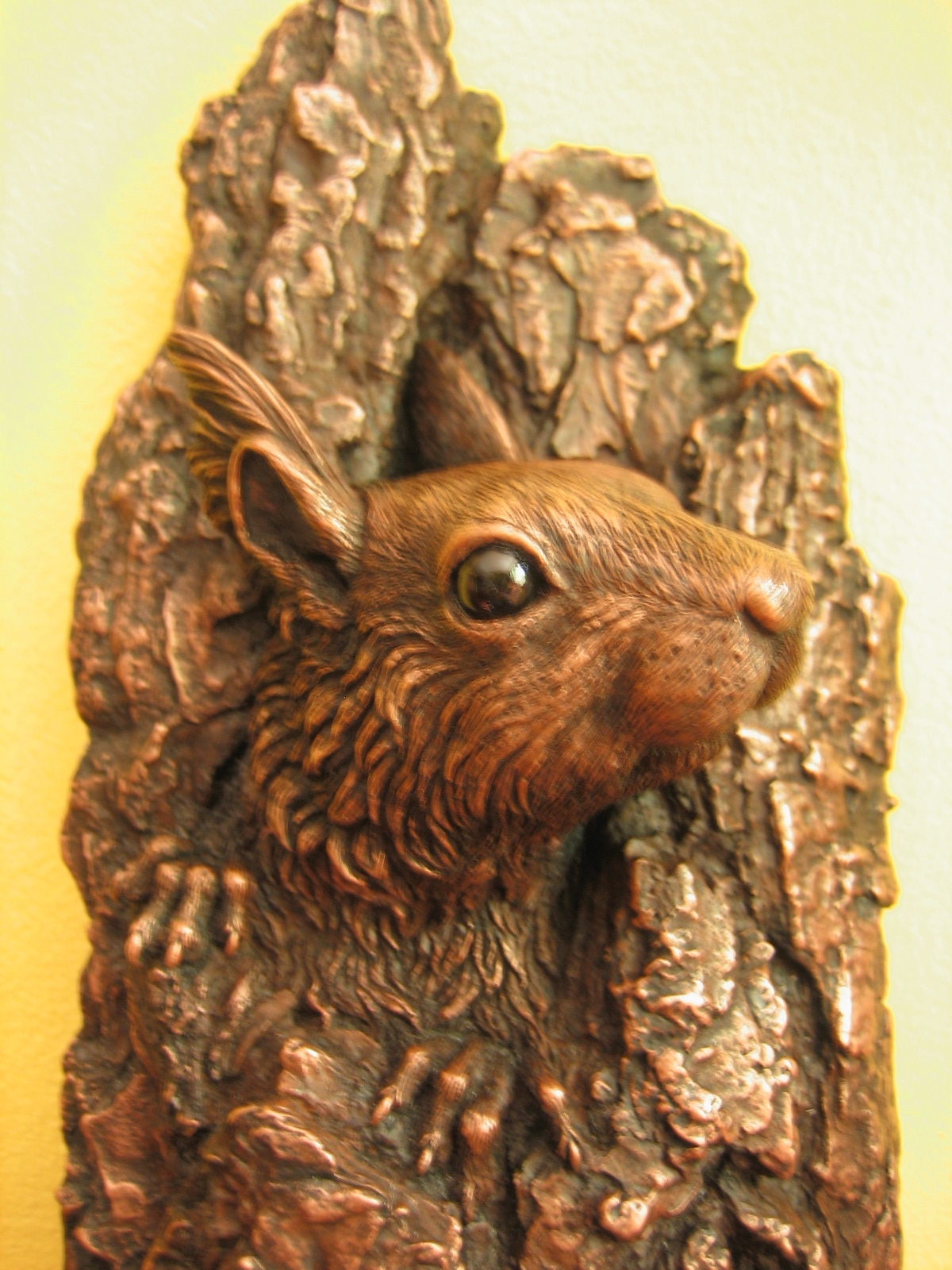'Hope'- cold-cast copper red squirrel