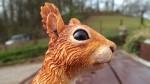 Red Squirrel sculpture, 'George'