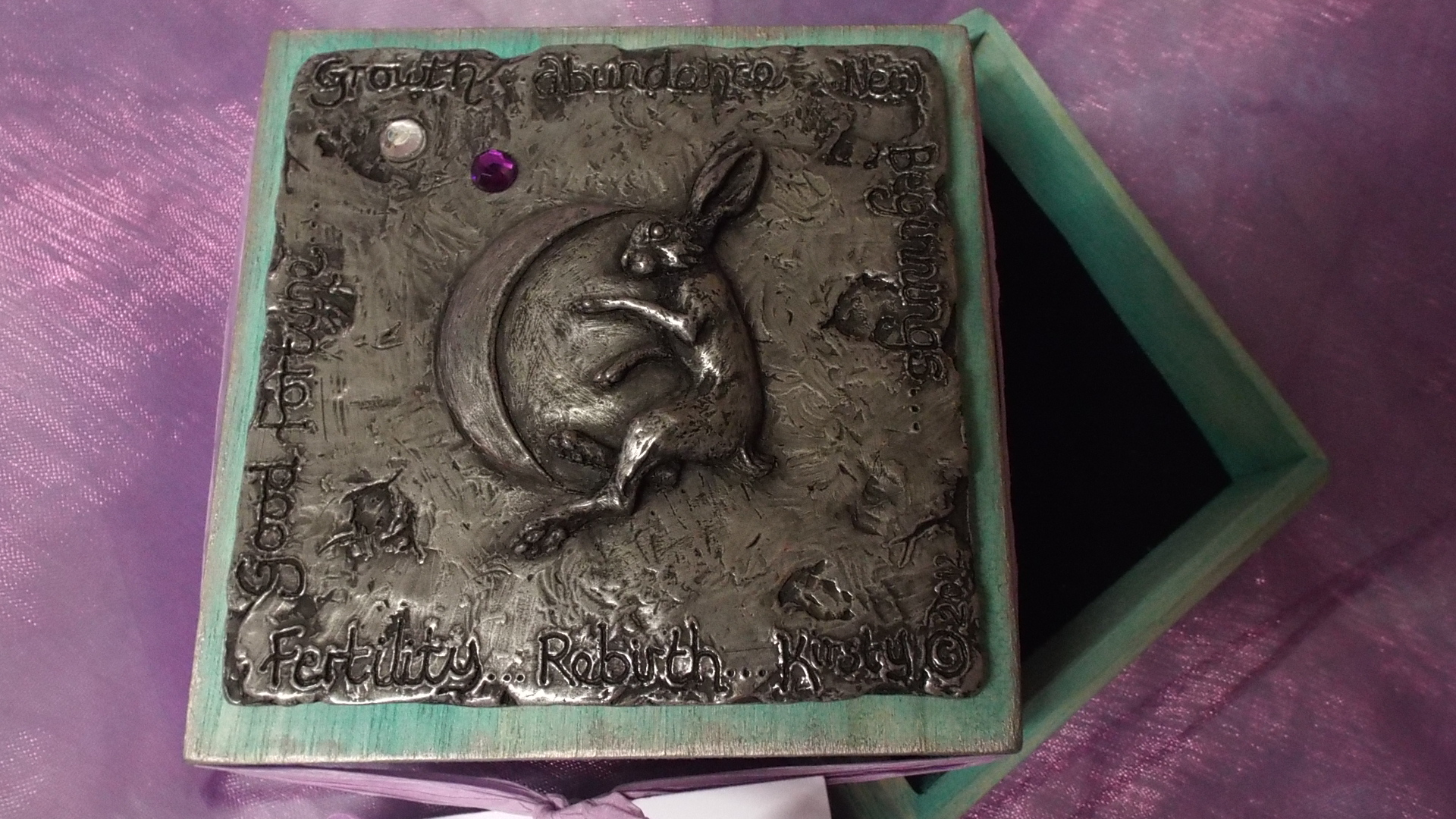 Hare and Moon Trinket box