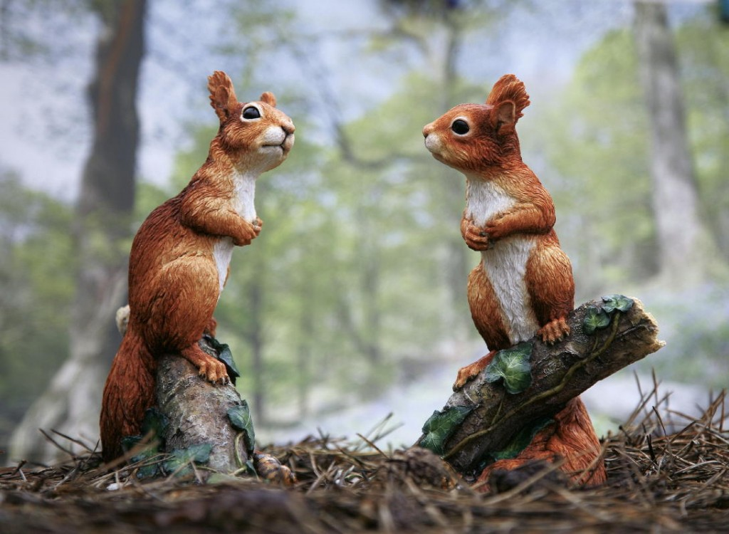 Red Squirrel kitten sculpture by kirsty Armstrong