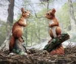 Current Squirrel sculpture, red Squirrel kitten; George