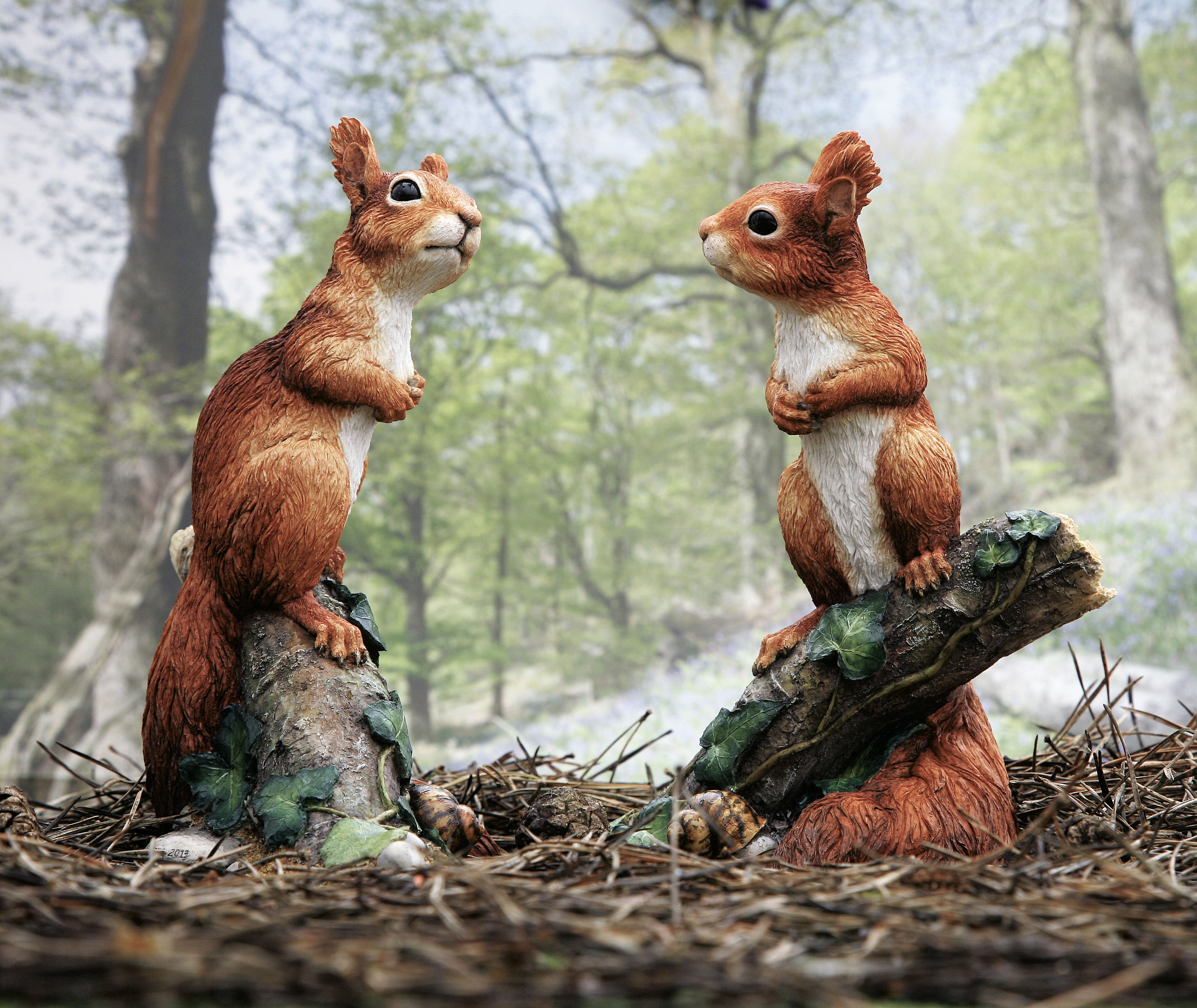 British Wildlife sculpture;Red Squirrel kitten sculpture; George by Kirsty Armstrong