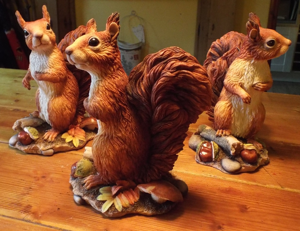Red Squirrel sculpture Rowan