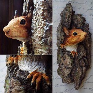 Red Squirrel art red squirrel sculpture