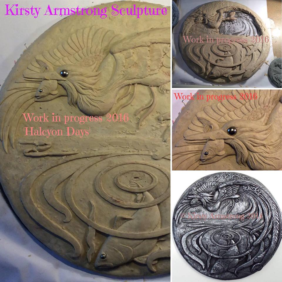 Halcyon days sculpted wall plaque