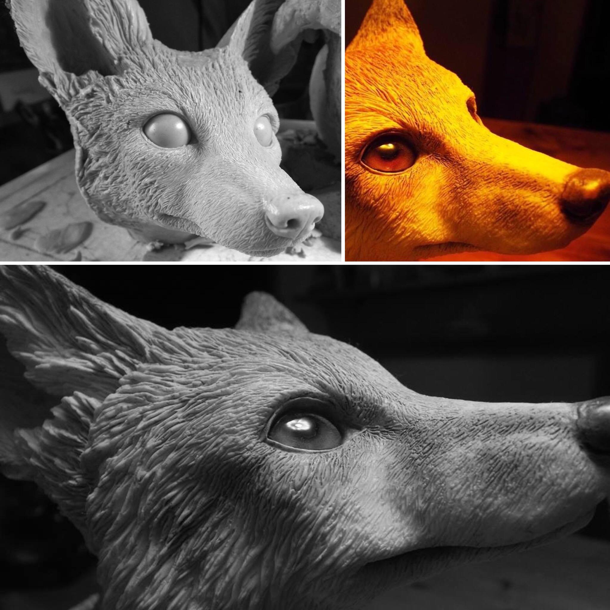 Fox sculptures