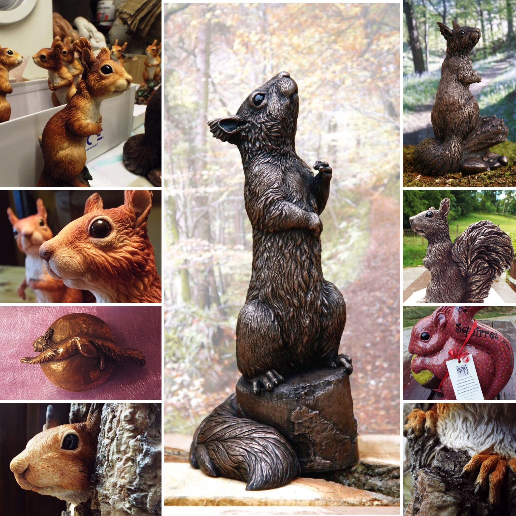 Red Squirrel art, Sculpture