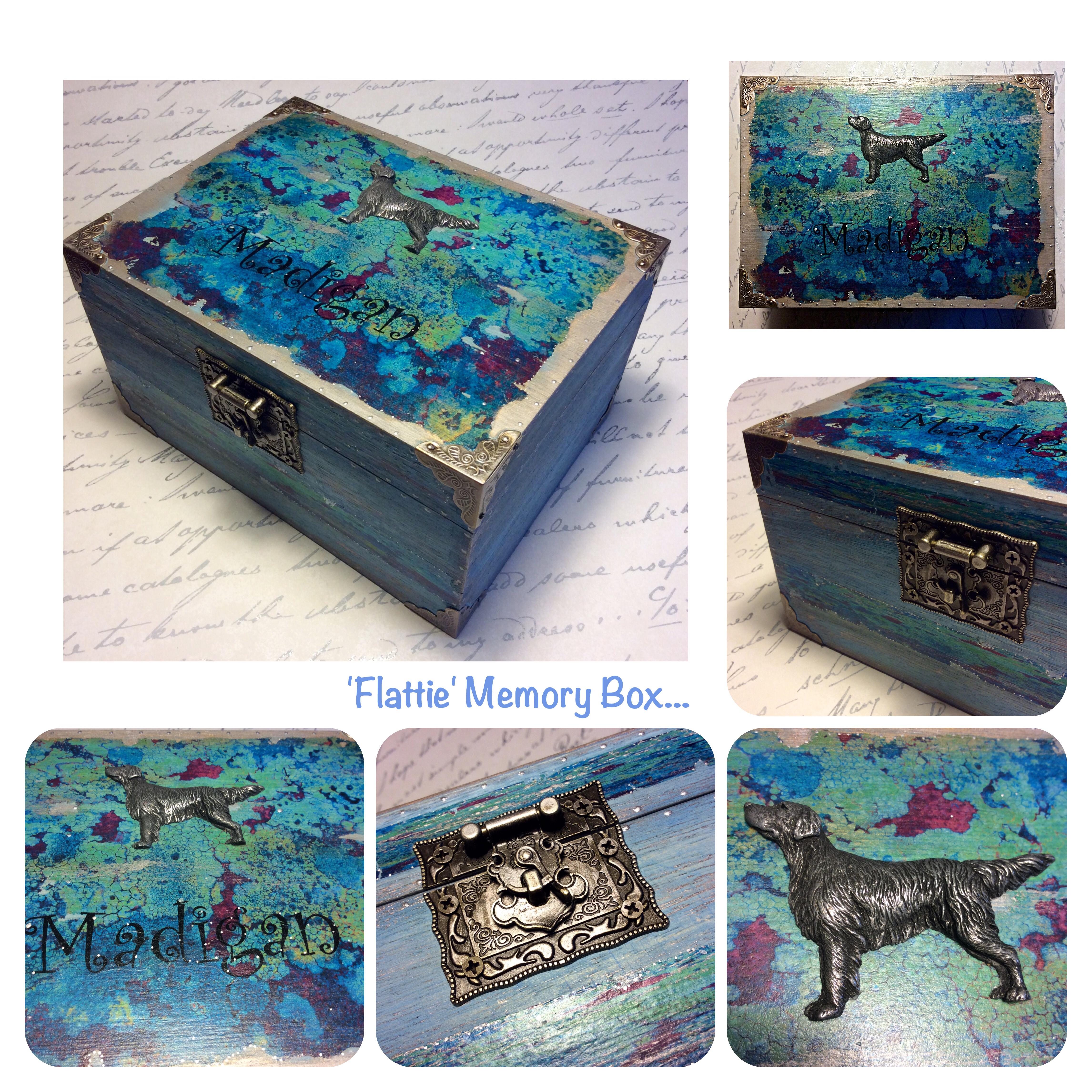 Flat coated Retriever box