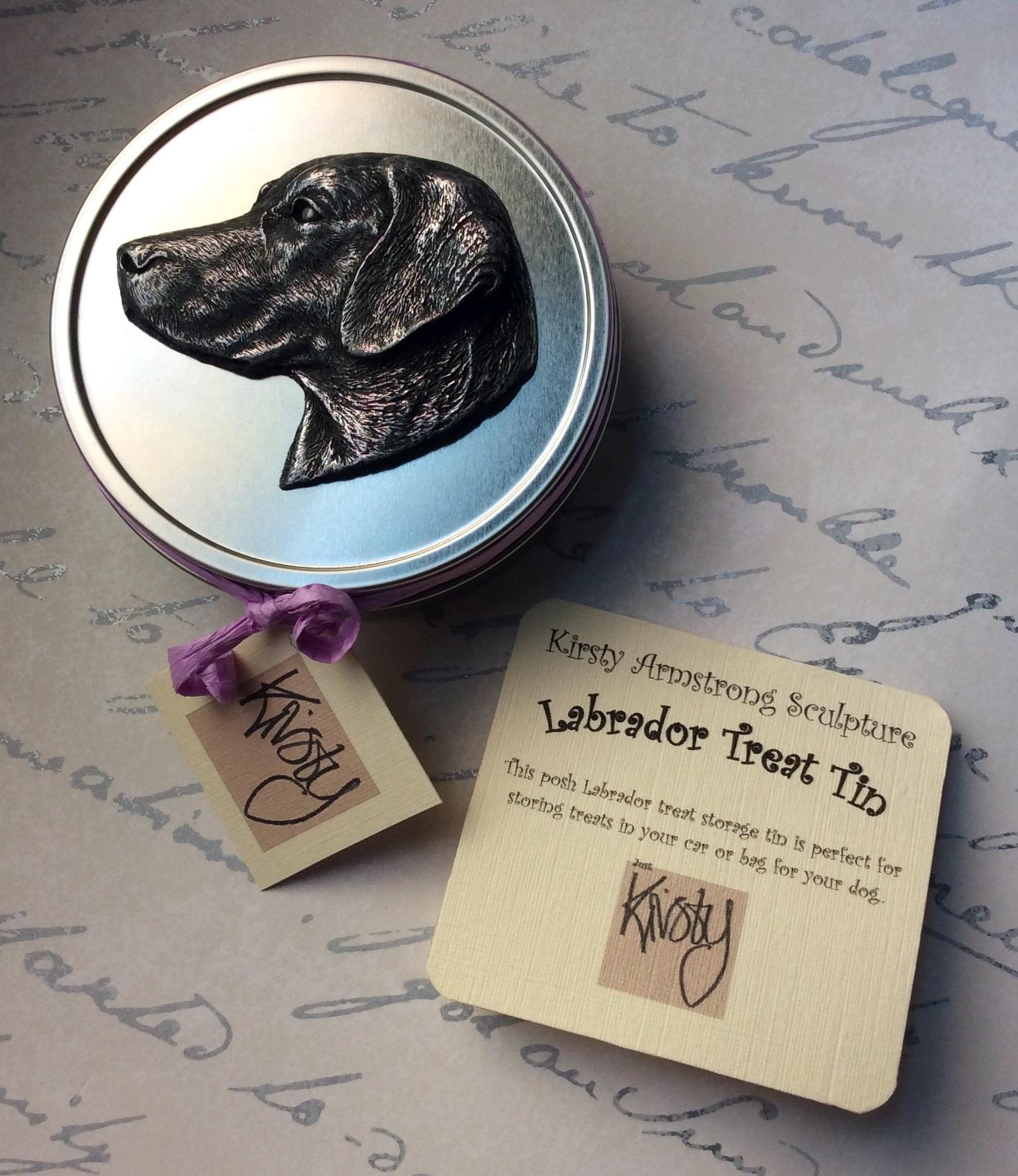 Labrador treat tin