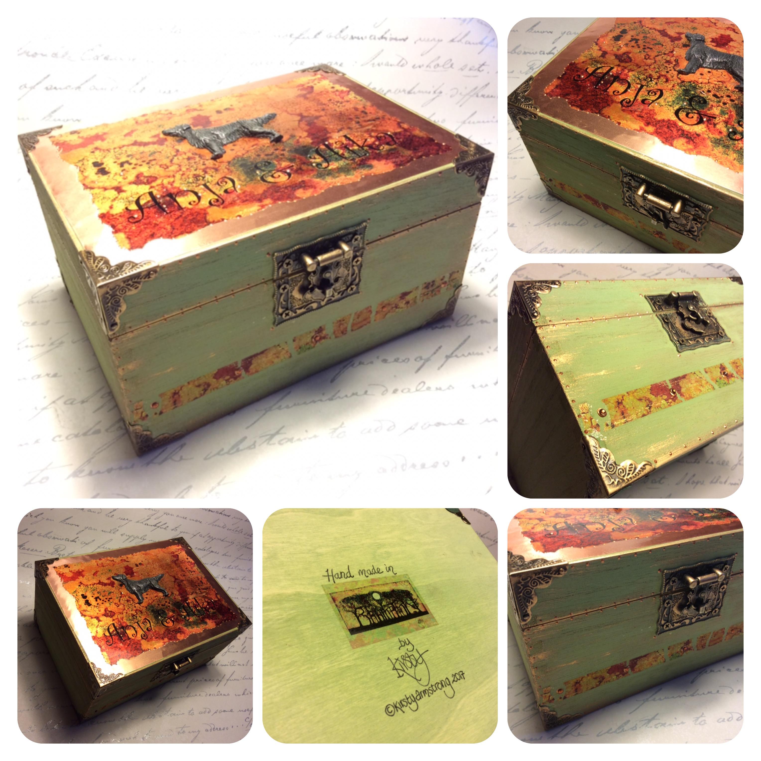Flat coated retriever memory box