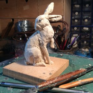 New Hare sculpture